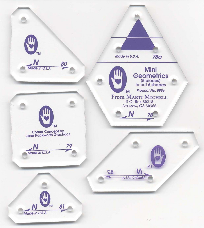 Perfect Patchwork Templates Set N Mini Geometrics