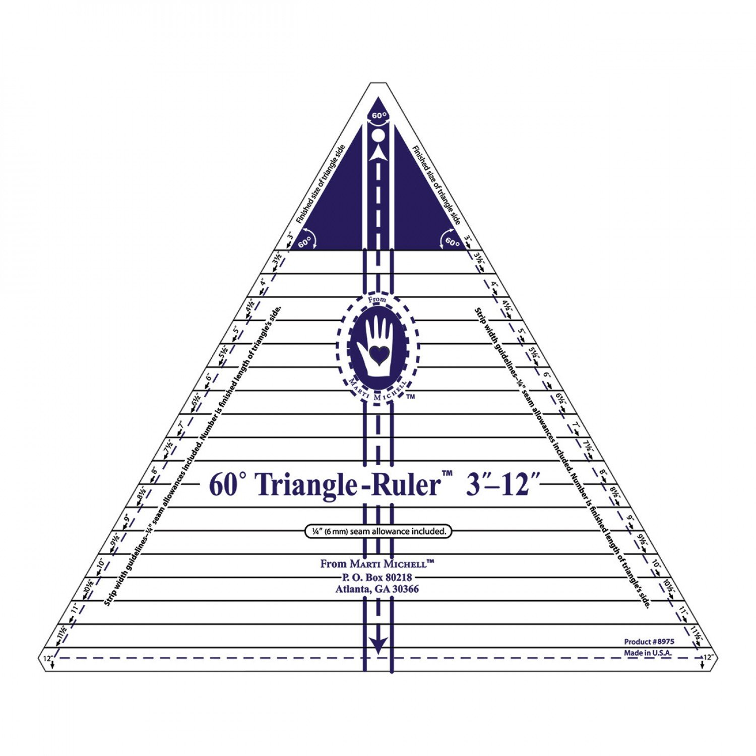 Triangle Ruler 12in 60 Degree