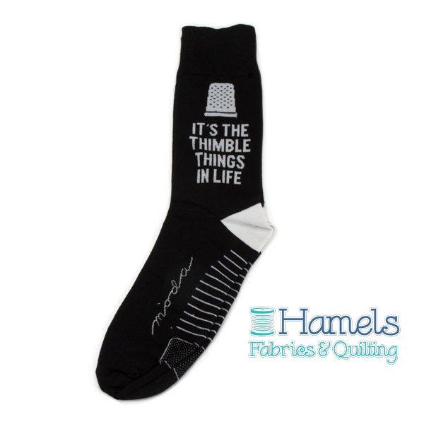 Moda Fun Stuff Socks 5-It's The Thimble Things In Life