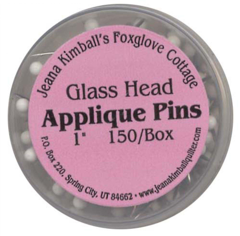 Glass Head Applique Pin 150ct