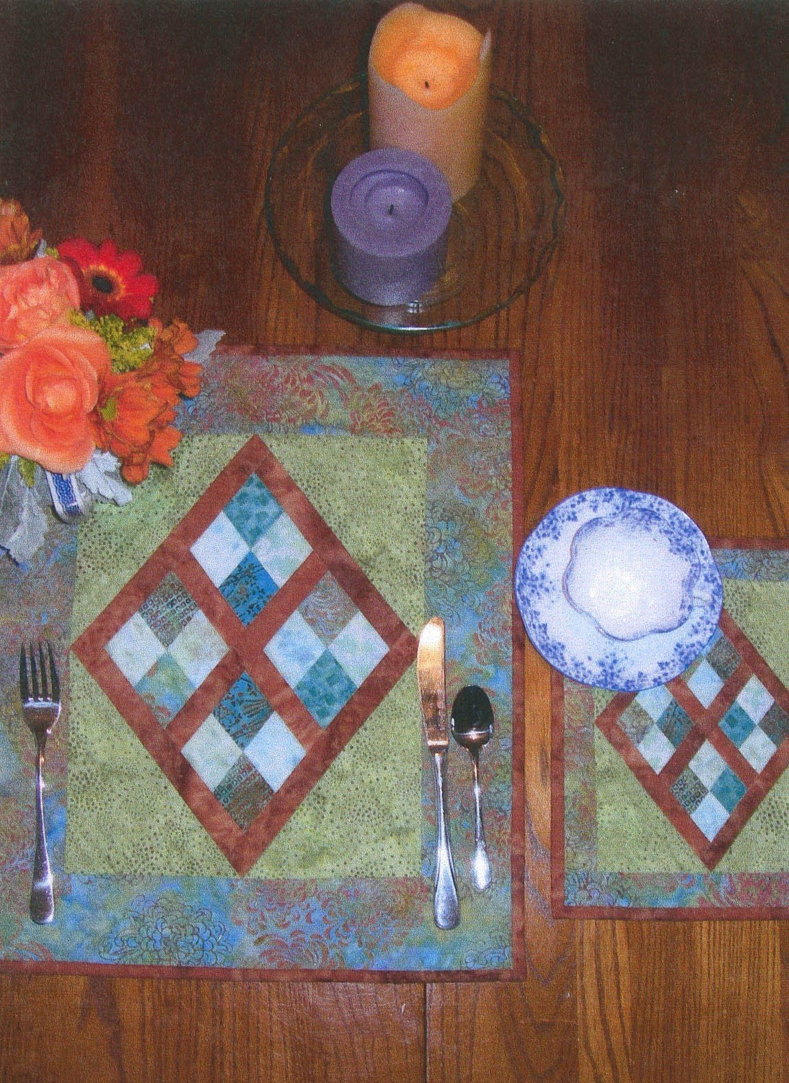 Four-Patch Placemats or Pillow