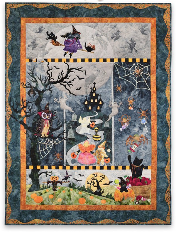 Once in a Boo Moon Laser Cut Quilt Block-of-the-Month