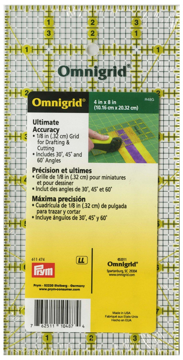 Omnigrid Ruler 4in x 8in All-Over Grid