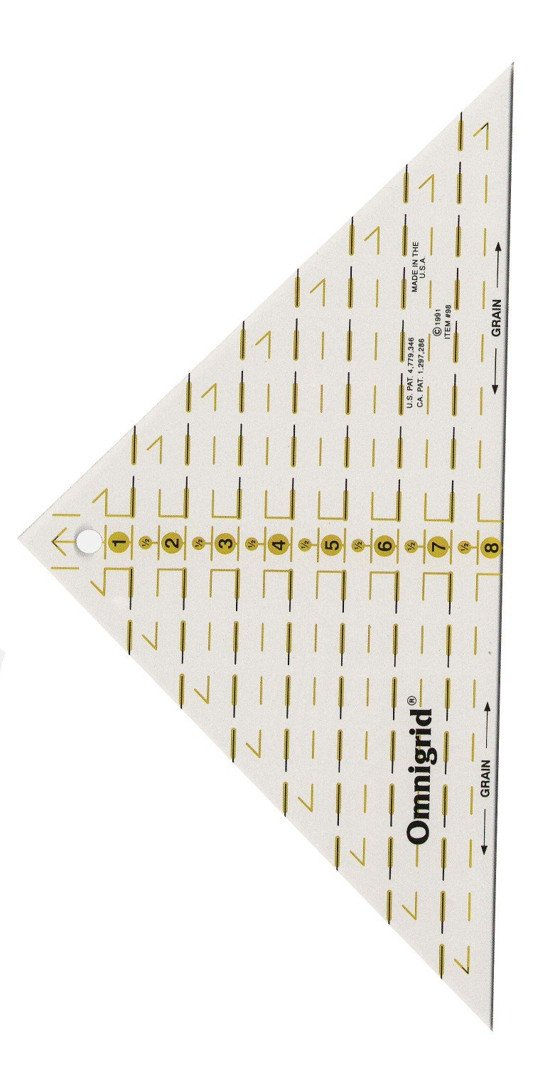 Omnigrid Ruler Right Triangle Up To 8in Square