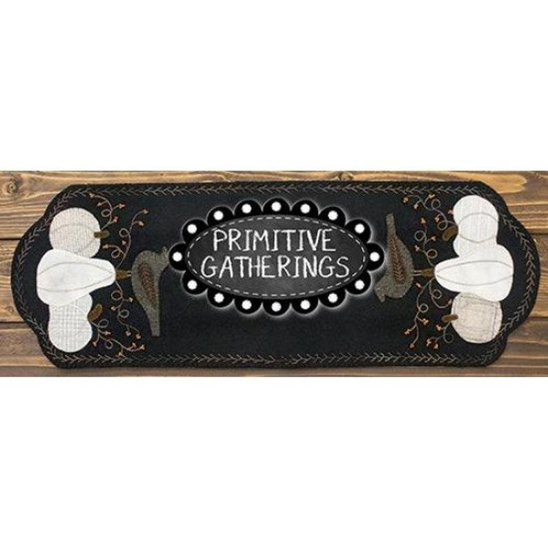 Primitive Gatherings - Old Crow & Company Table Runner (Light Version)