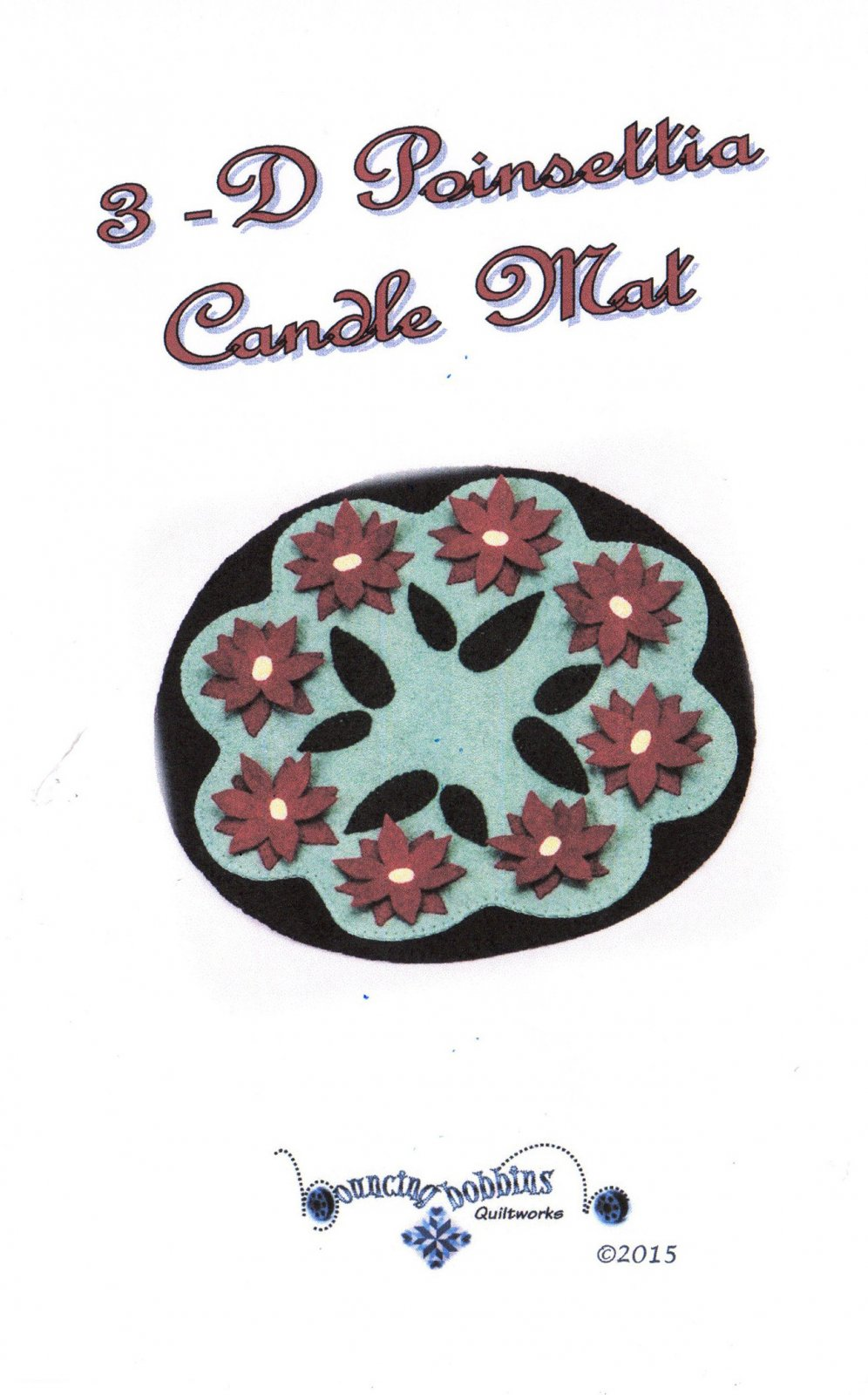 Poinsettia Wool Candle Mat