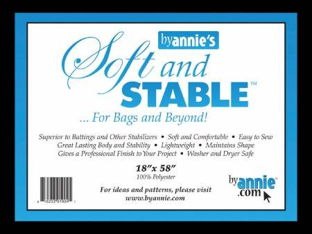Soft and Stable Black 100% Polyester Stabilizer 18in x 58in