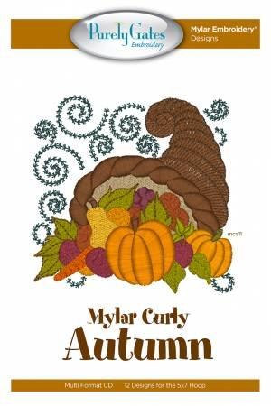 CD Mylar Curly Autumn Machine Embroidery