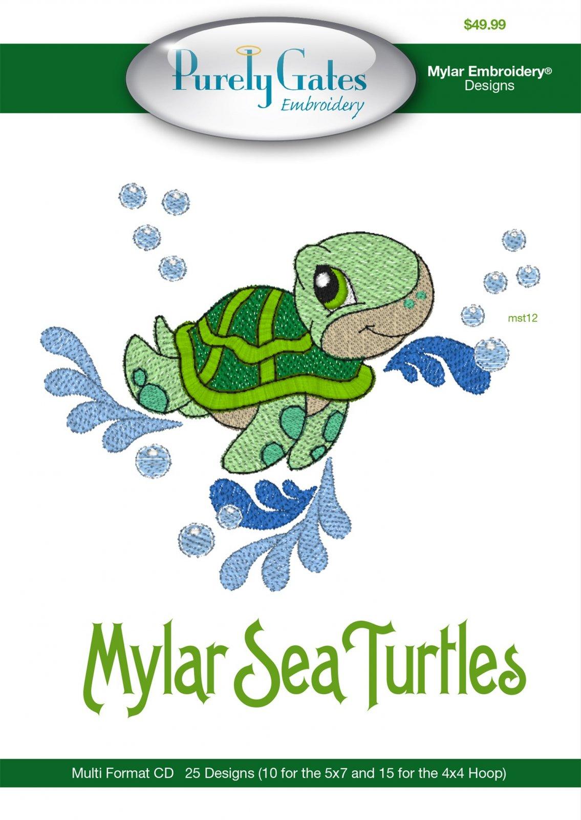 CD Sea Turtles Machine Embroidery