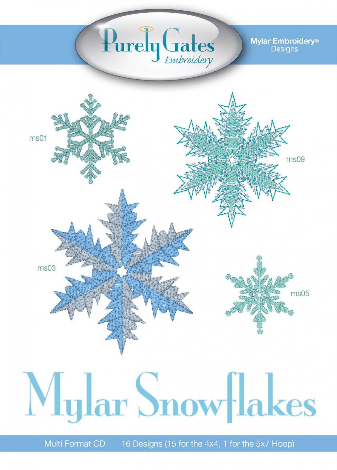 CD Mylar Snowflakes Machine Embroidery