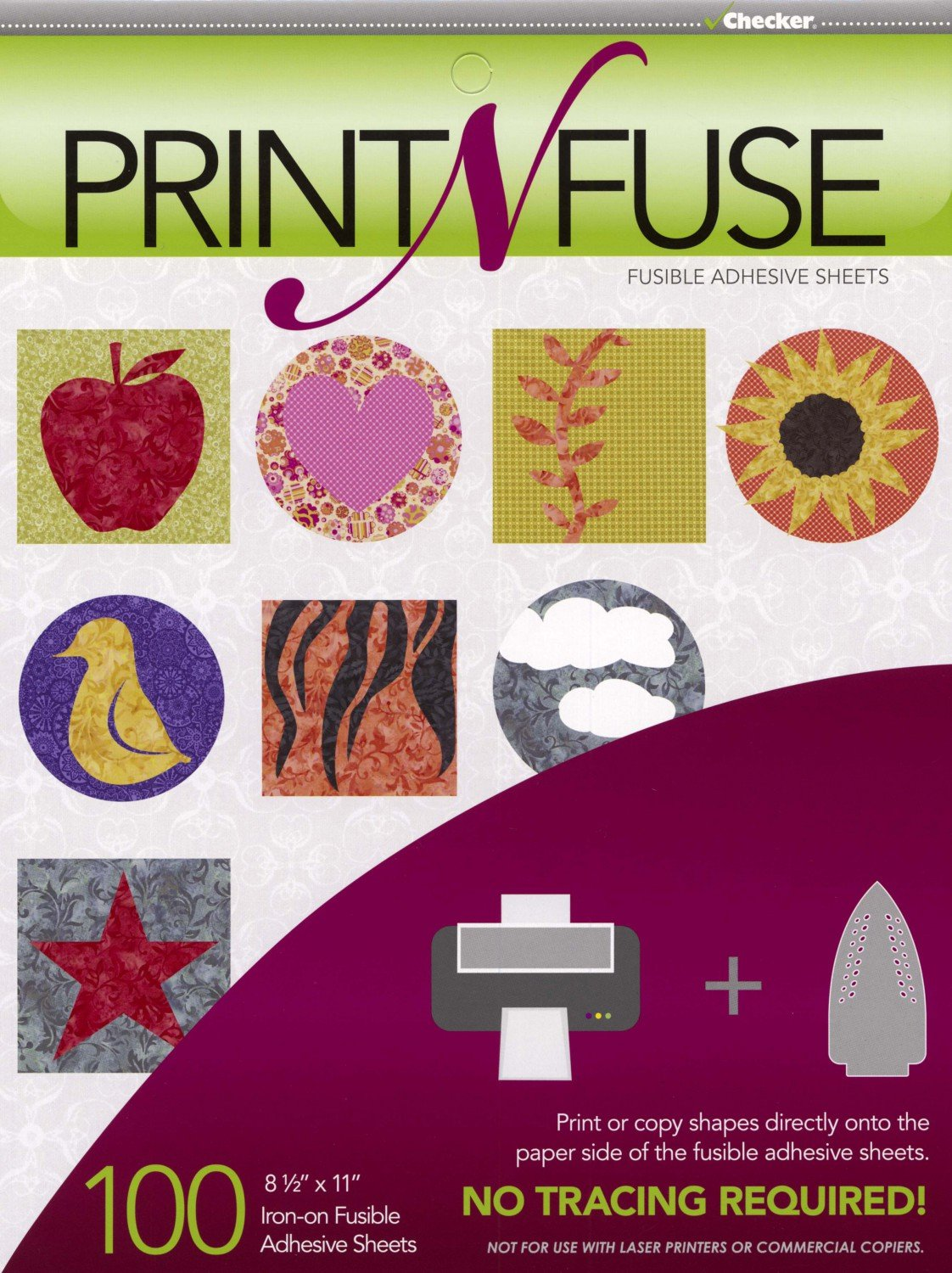 Print n' Fuse 8-1/2in x 11in Inkjet Fusible Sheets 100ct