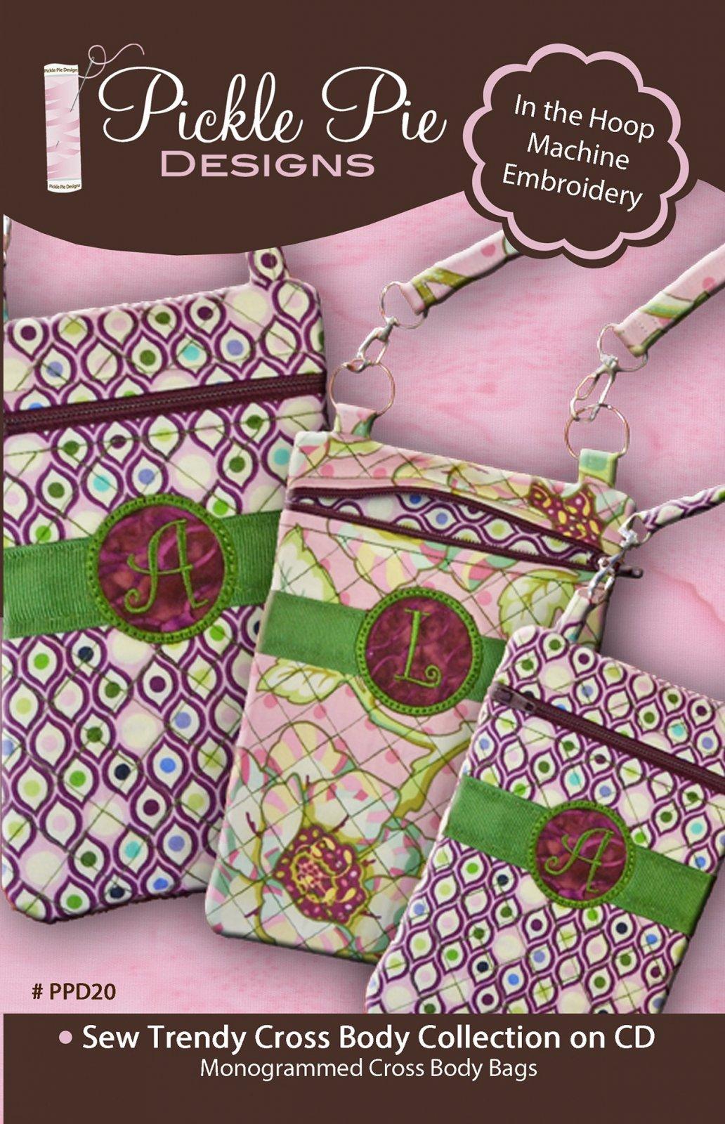 CD Sew Trendy Cross Body Bags In the Hoop Machine Embroidery