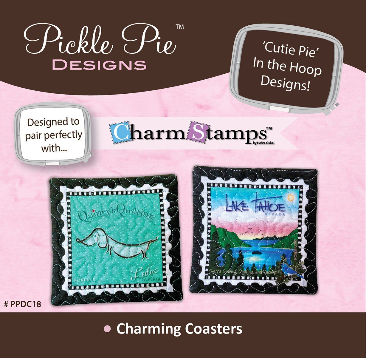 Charming Coasters In The Hoop Embroidery Design CD