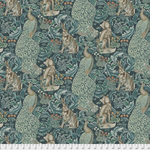 The Original Morris & Co. - Standen Collection Forest - Teal - PWWM031.Teal