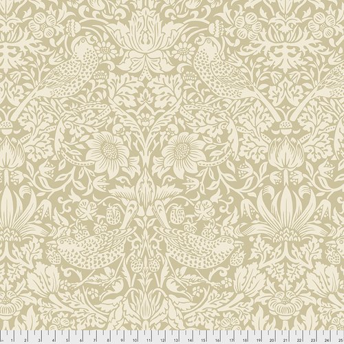The Original Morris & Co.  Wide Backing - Standen Collection Strawberry Thief - Linen - QBWM002.LINEN