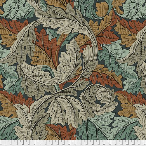 The Original Morris & Co. Wide Backing - Standen Collection Acanthus - Autumn - QBWM002.AUTUMN