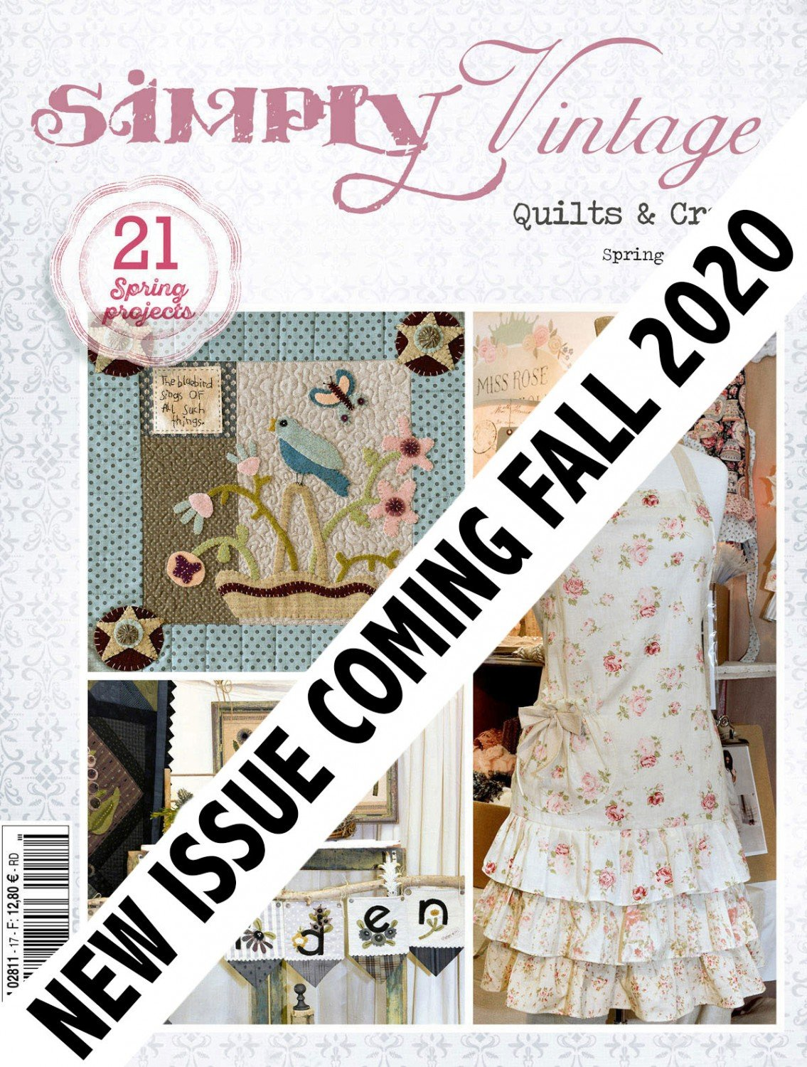 Quarterly Simply Vintage Magazine 36 ~RELEASE DATE Sept 10/2020~