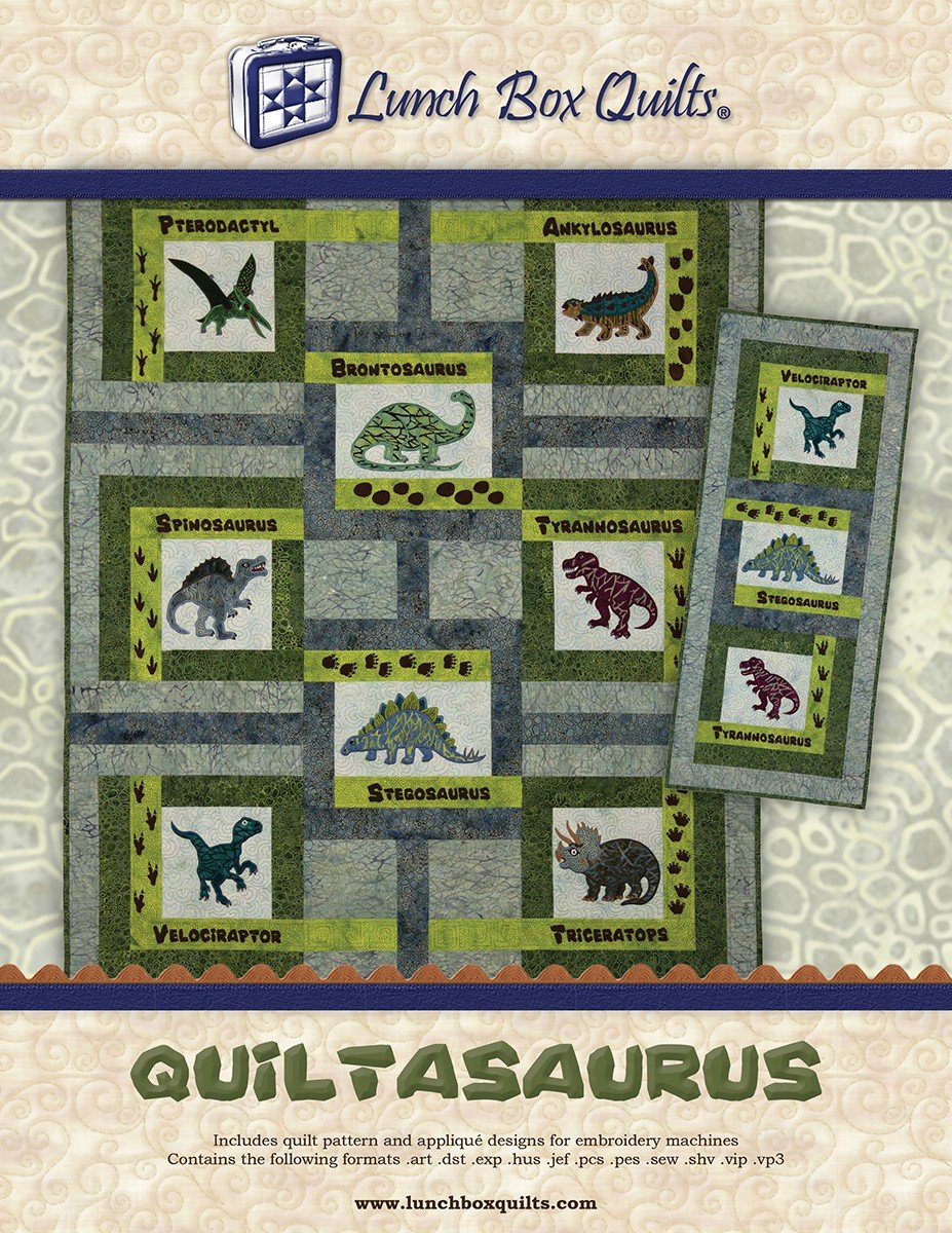 Quiltasaurus Machine Embroidery CD