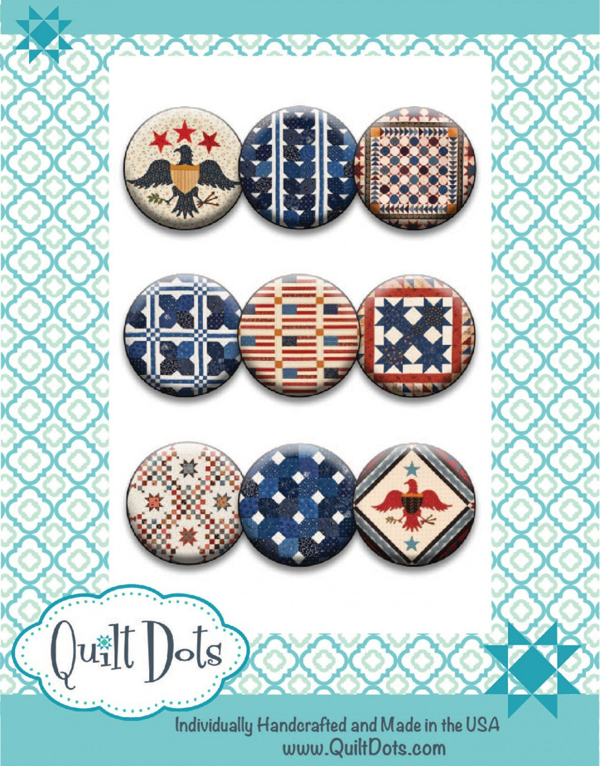 Quilts Remembered Patriotic Fair 9 Magnets