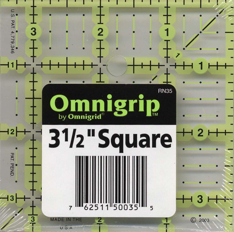 Omnigrid Omnigrip Neon Ruler 3 1/2in x 3 1/2in