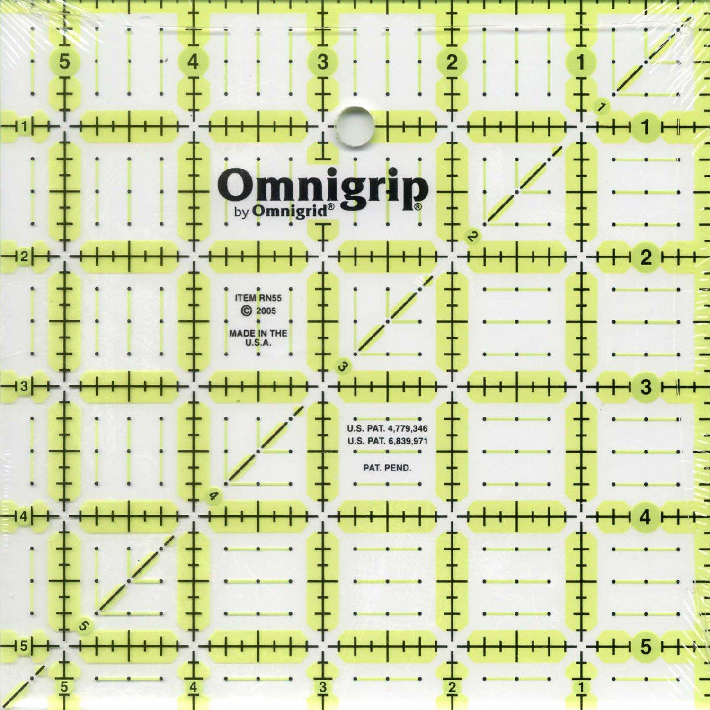 Omnigrid Omnigrip Neon Ruler 5 1/2in x 5 1/2in