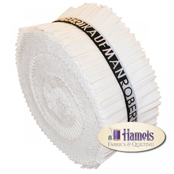 Kona Cotton Solids Roll Up - WHITE