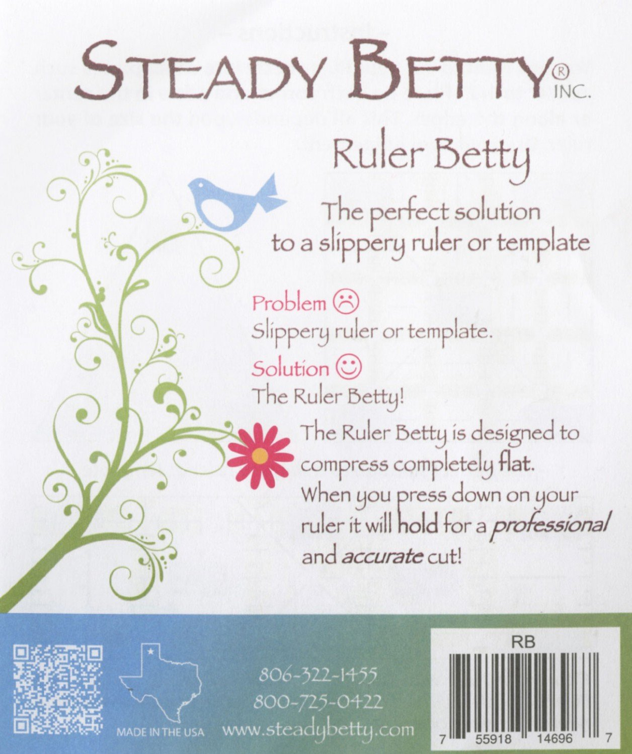 Strip Packs Steady Betty 1/4in x 4 1/2in 10ct