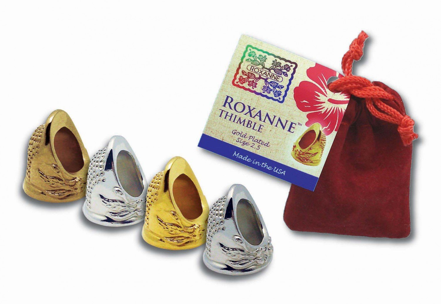 Roxanne Gold Plated Thimble Size 3