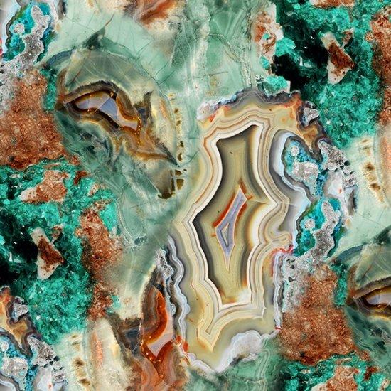 Bohemiam Blends Digital 24785-61-Turquoise