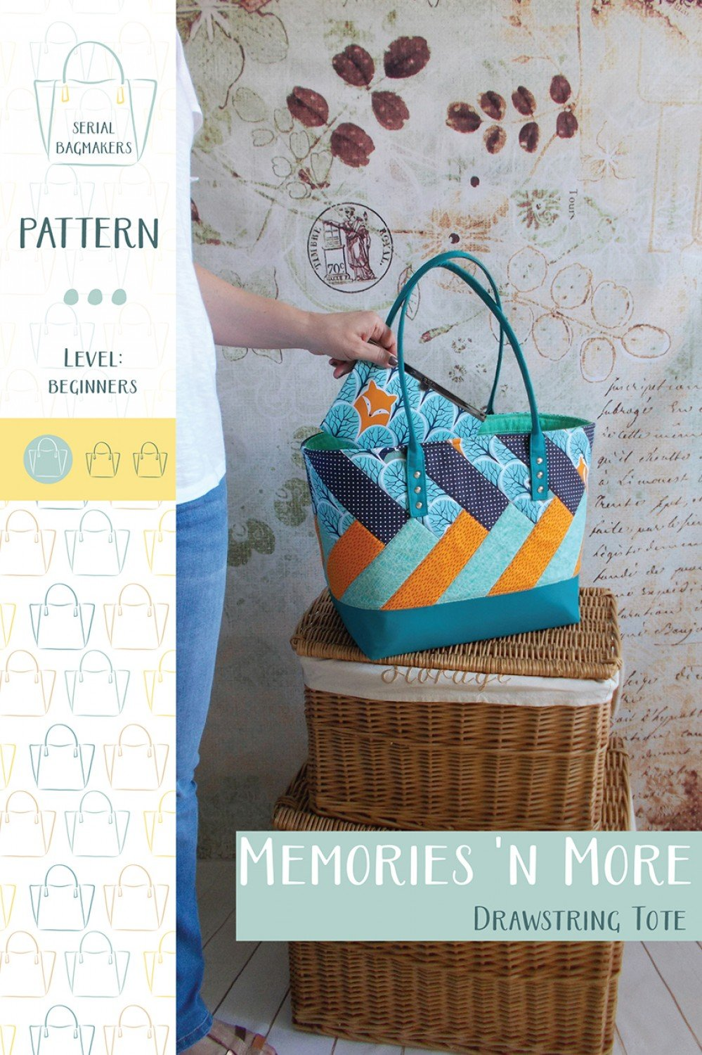 Memories N More Drawstring Tote