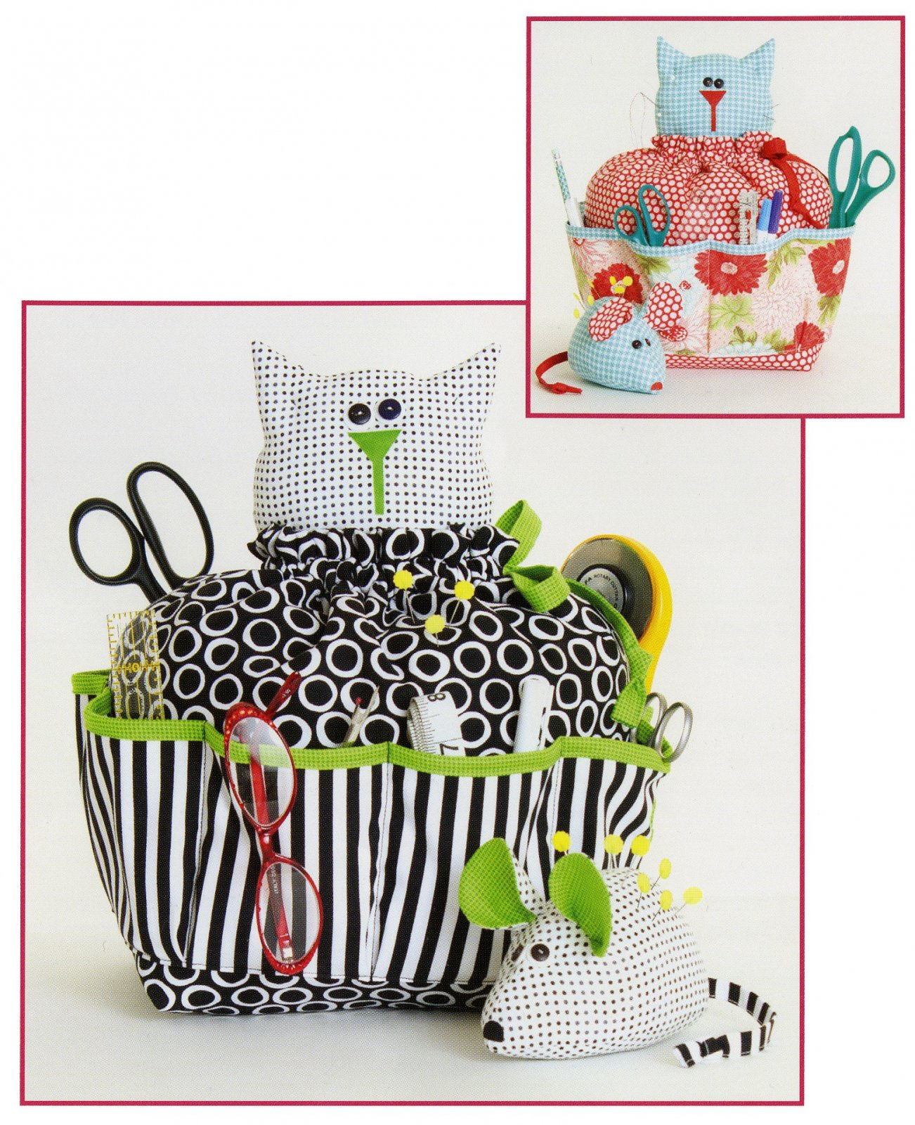 Sewing Catty & Pin Cushion Mouse