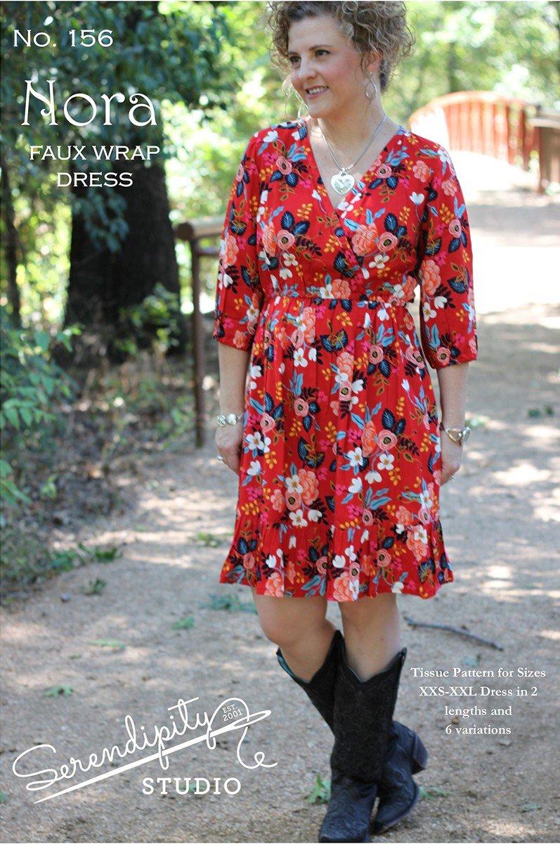 Nora Faux Wrap Dress