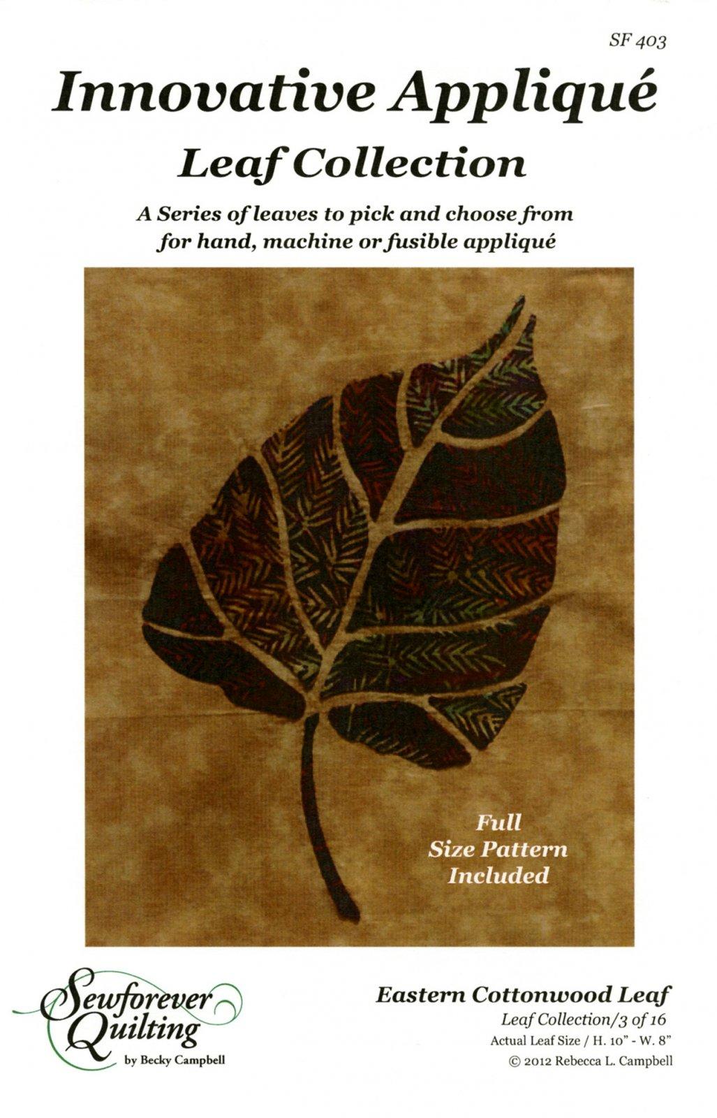Leaf Collection: Eastern Cottonwood Leaf