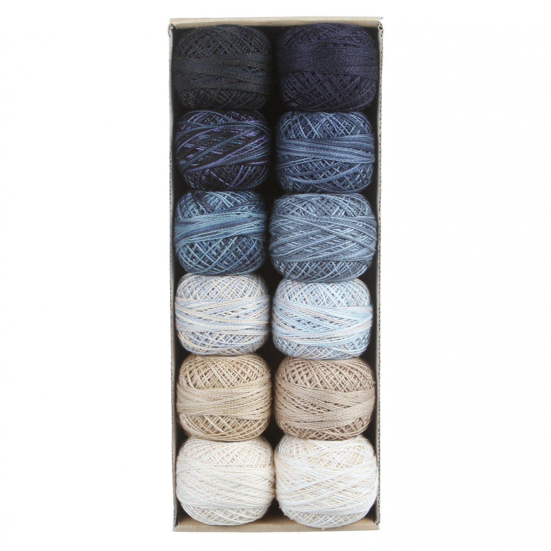 Valdani Pearl Cotton Ball Sz8 109yd 12 Colors Snowman Gatherings