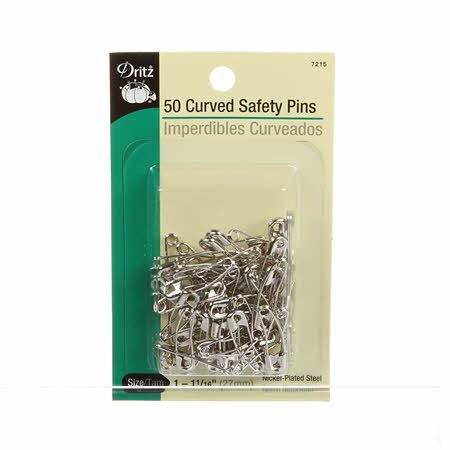 Curved Safety Pin 1 1/16in Size 1