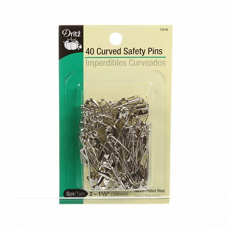 Curved Safety Pin 1 1/2in Size 2