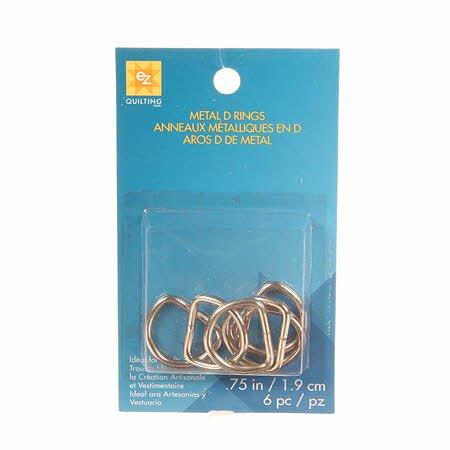 D Rings Metal 3/4in 6ct Nickel