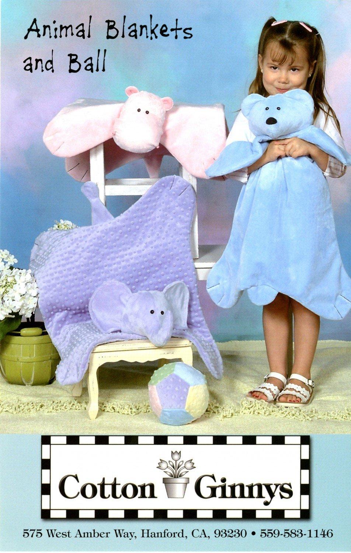 Snuggable Animal Blankets & Ball