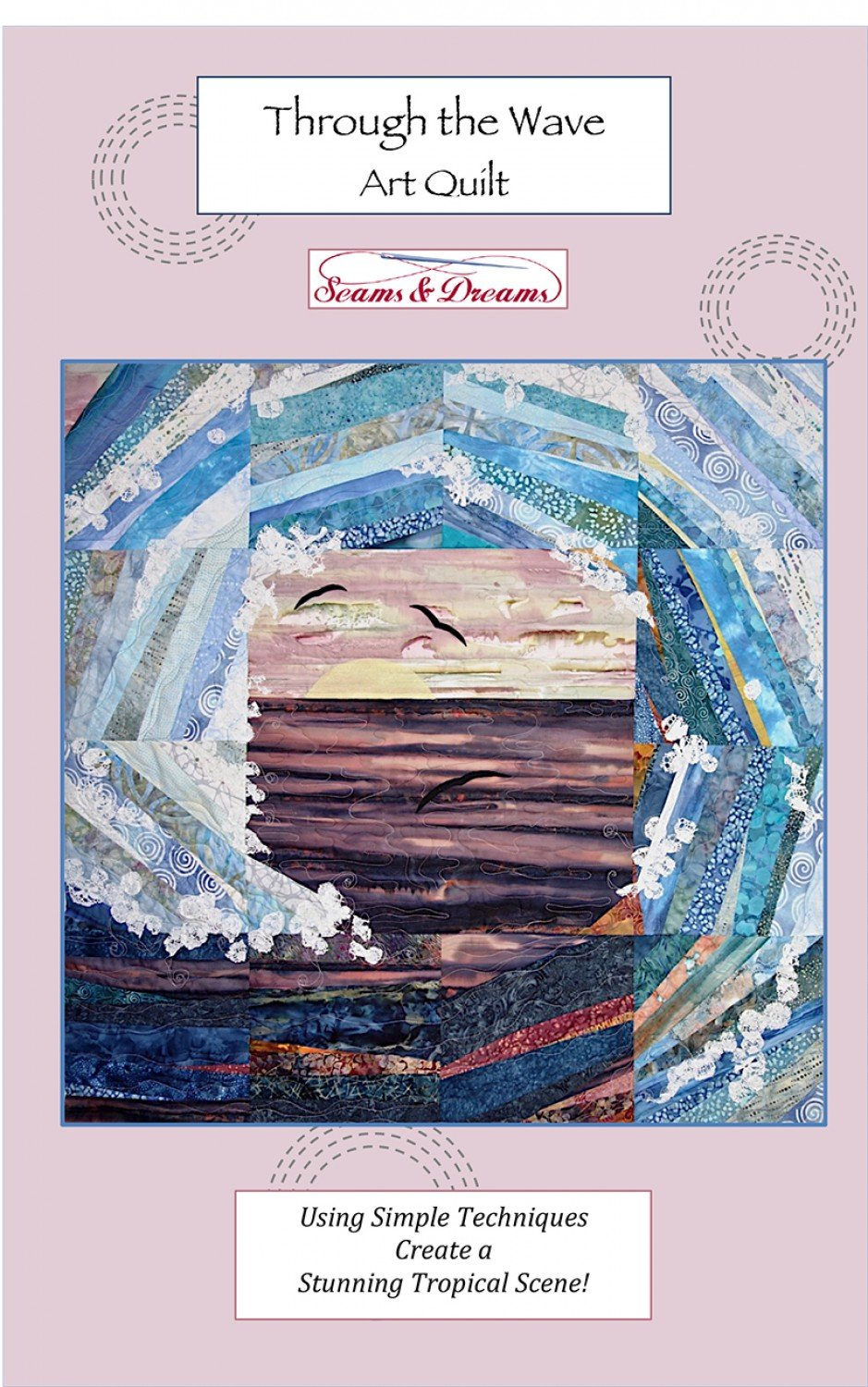 Through The Wave Art Quilt