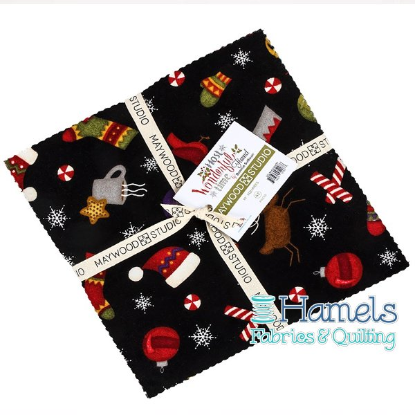 Most Wonderful Time Flannel 10 Inch Squares