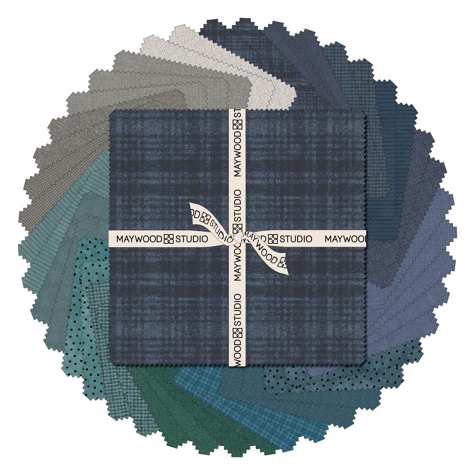 Woolies Flannel 10 Squares by Bonnie Sullivan - Stormy Seas