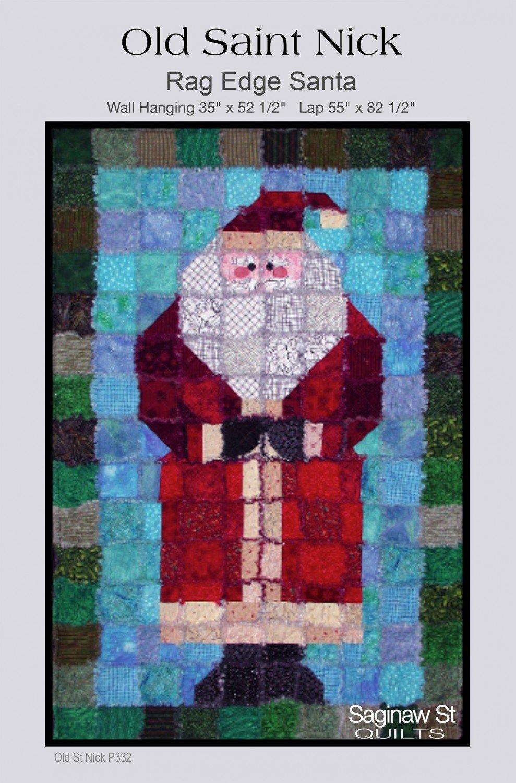Old Saint Nick Rag Edge Santa *Now Taking Pre-Orders*