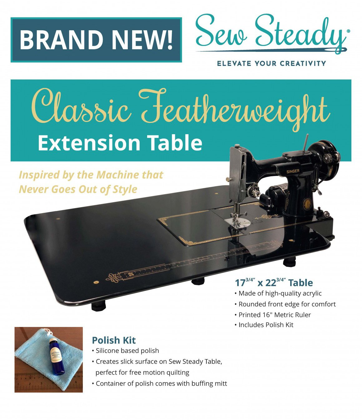 Sew Steady Classic Featherweight Extension Table