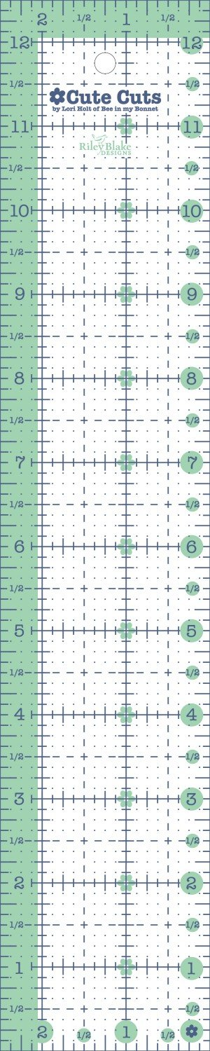 2-1/2in x 12-1/2in Cute Cut Ruler