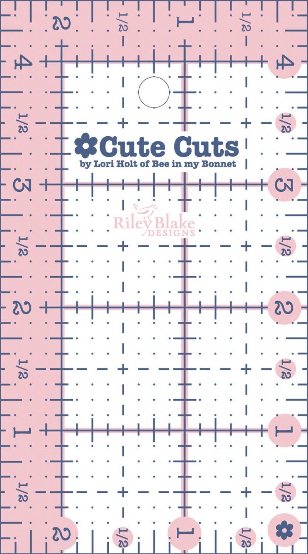 Cute Cut Ruler Rectangle 2-1/2in x 4-1/2in