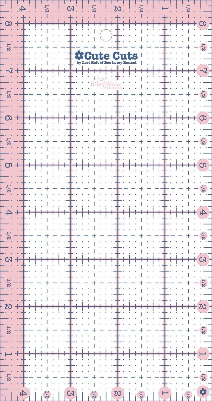 Cute Cut Ruler Rectangle 4-1/2in x 8-1/2in