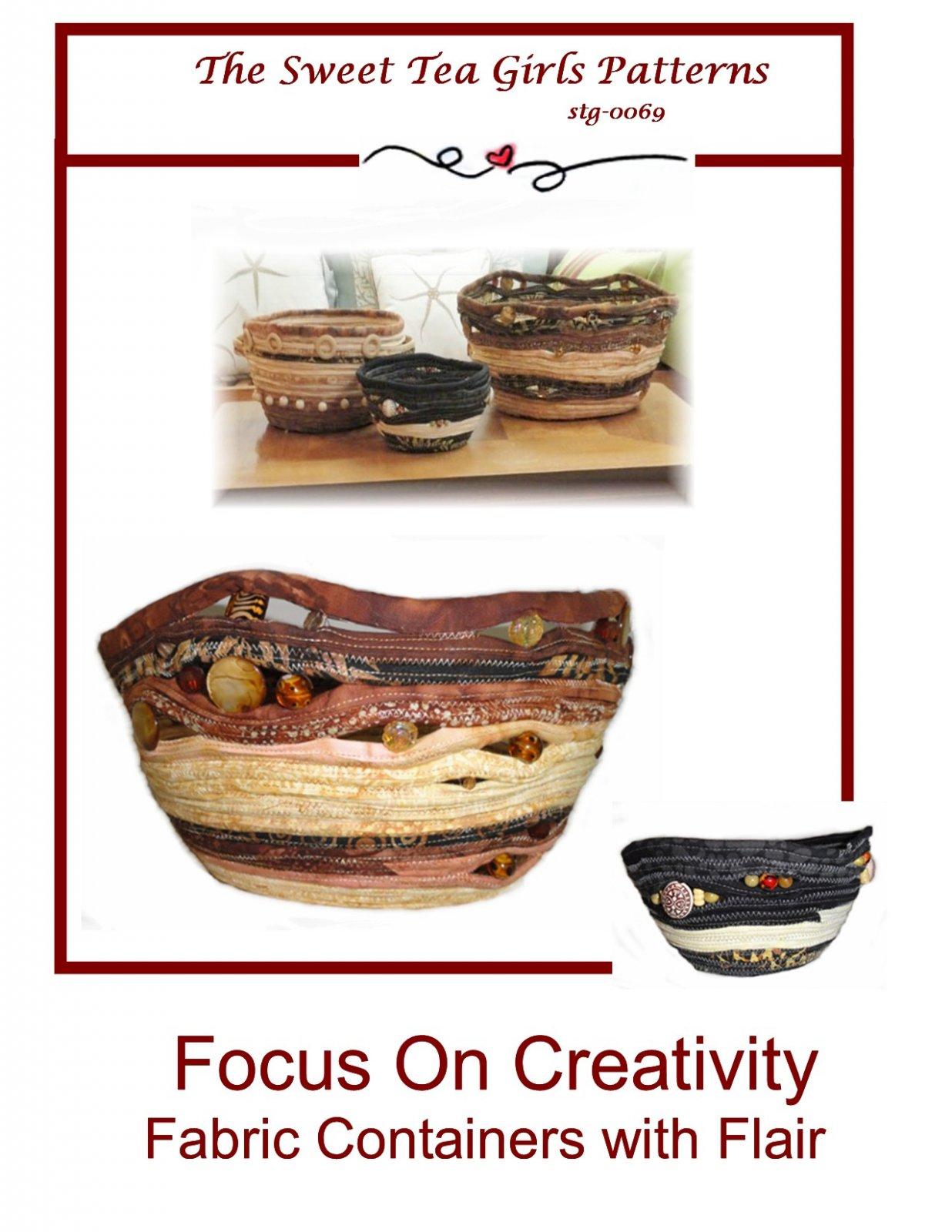 Focus On Creativity Fabric Container