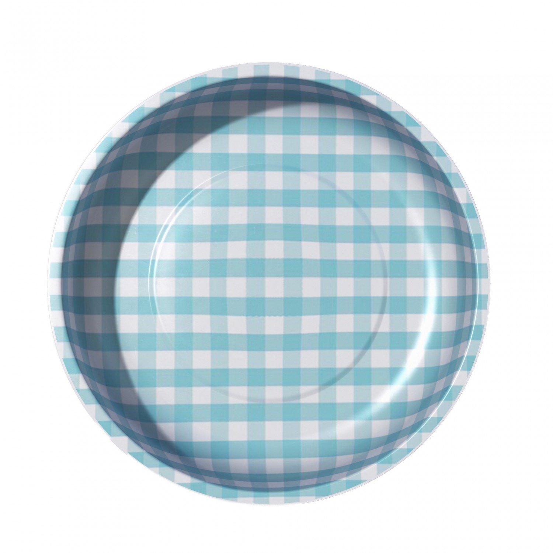 Sew Together Magnetic Pin Bowl Gingham Aqua