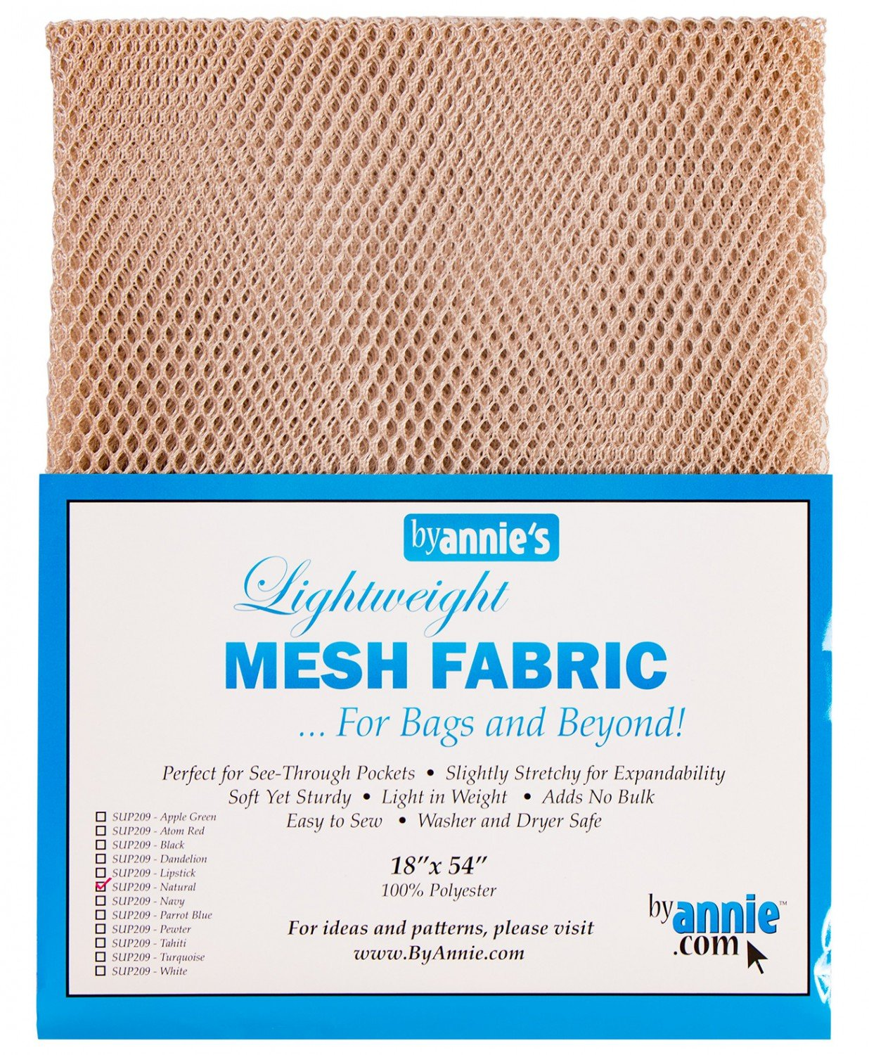 Mesh Lite Weight Natural - 18x54in