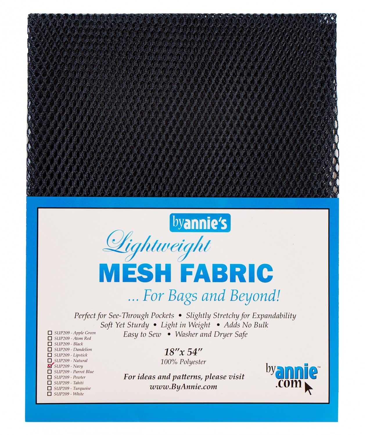 Mesh Lite Weight Navy - 18x54in